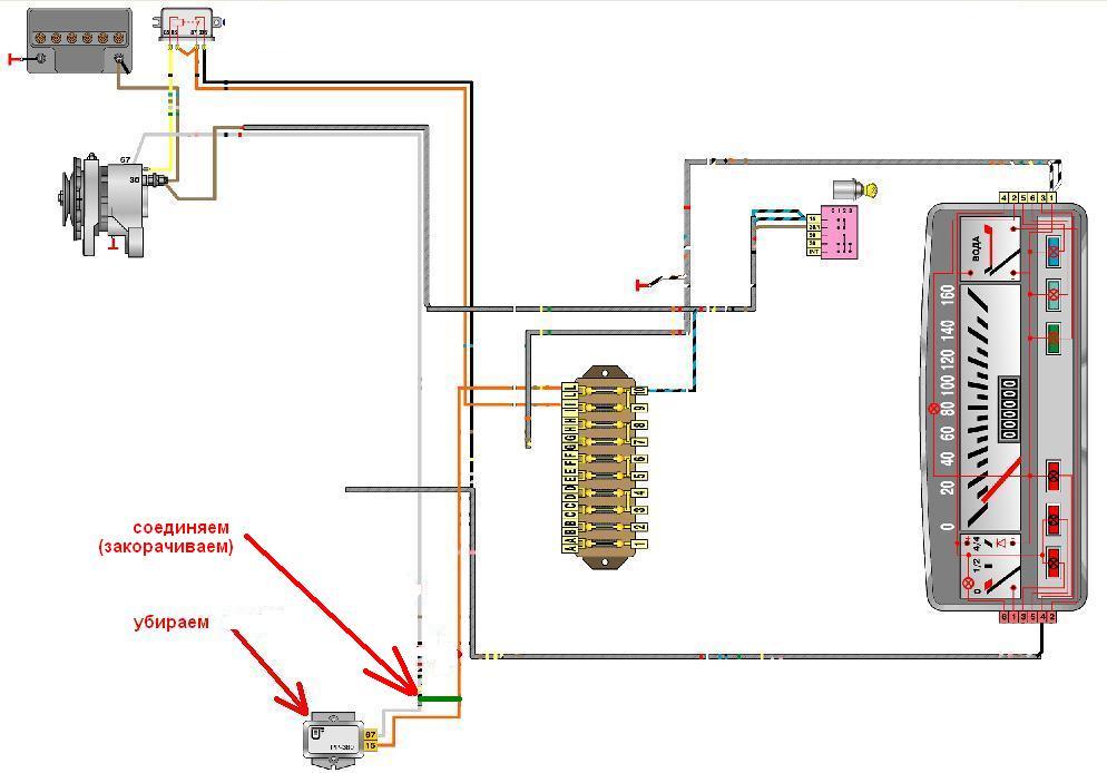 Принцип подключения генератора